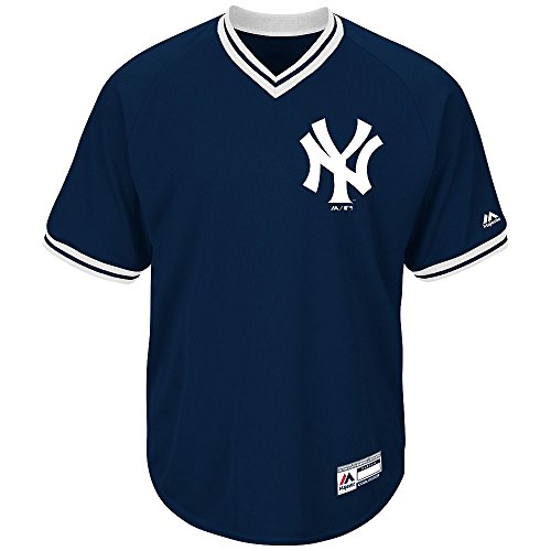 Youth Medium New York Yankees BLANK BACK Major League Baseball Cool-Base V-Neck Jersey