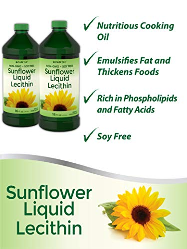Carlyle Sunflower Liquid Lecithin 16 oz Oil 2pack | Soy Free, Vegetarian, Non-GMO, and Gluten Free | Food Grade by Carlyle (Image #4)