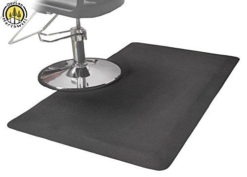 DevLon NorthWest Salon Anti Fatigue Mat 5x3 Salon Mat Salon Chair Rectangle Mat Cheap Mat For Standing in Kitchen, Sport, Garage, Barbershop, Desk Support Comfort at Your Feet in Black (Chair Cheap Barber Shop)