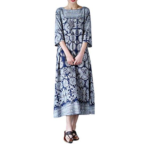 d4f02a828461 Vestiti Homebaby® Casual Estivi Maxi Blu Lunghi Abito Size Vintage Eleganti  Estate Cerimonia Plus Vestito ...