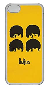 GOOD 5C Case, iPhone 5C Case, Personalized Hard PC Clear Shoockproof Protective Case Cover for New Apple iPhone 5C - Cartoon The Beatles