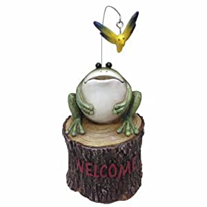 """9.84"""" Frog Key Hider & Welcome Sign Statue"""