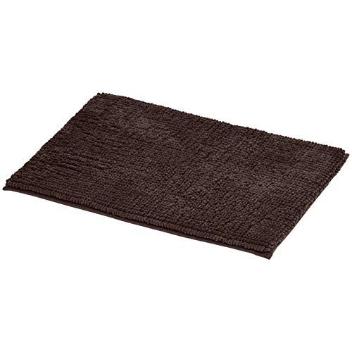 AmazonBasics Chenille Loop Memory Foam Bath Mat – Small, Brown