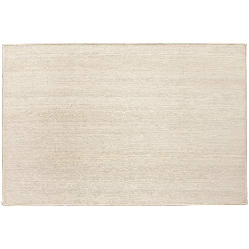 (RUGGABLE Washable Stain Resistant Indoor/Outdoor, Kids, Pets, and Dog Friendly Accent Rug 3'x5' Solid Textured Cream)