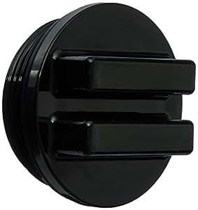 Hayward SP1022CBLK 3,81 cm hormigón piscina Tapón de drenaje MIP con O-Ring - Negro