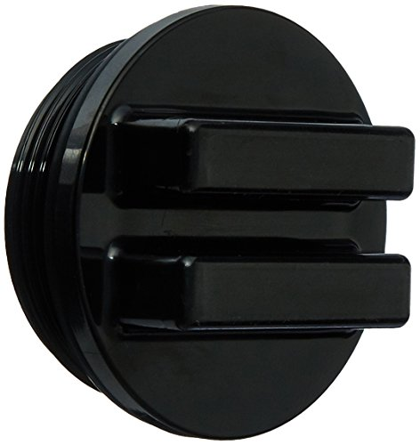 Hayward SP1022CBLK 1-1/2-Inch MIP Black Concrete Pool Drain Plug with O-Ring
