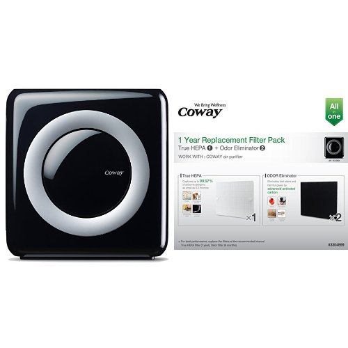 coway ap 1512hh mighty air purifier with true hepa and eco mode and coway replacement filter. Black Bedroom Furniture Sets. Home Design Ideas