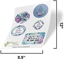 Phi Sigma Sigma Sorority Purple Floral Sticker Sheet Decal Laptop