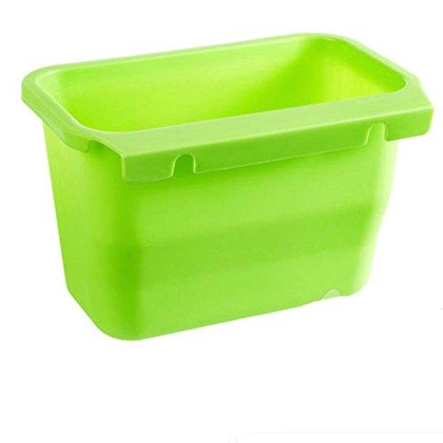 Ularma Küchenschrank Küchen hängen Müllsackständer Plastik Lagerung Hängeleiste Hängende Aufbewahrungsbox (grün)