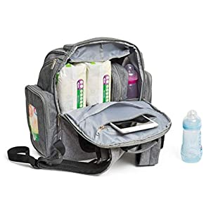 Baby Diaper Bag Backpack with Changing Pad – Waterproof...