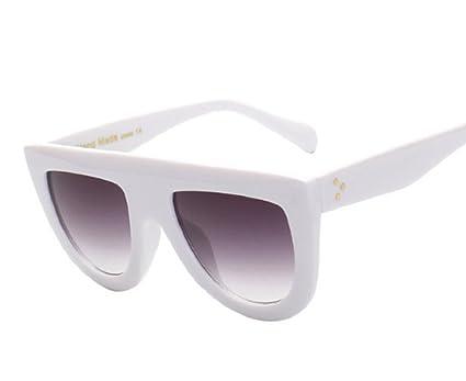 bfaa1549ee RFOLVE Latest Fashion Sunglasses Women Flat Top Style Brand Design Vintage  Sun glasses Female Rivet Shades