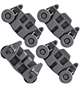 4 PACKS W10195416 Dishwasher Wheels Lower Dish Rack Wheel Assembly - Compatible with Kenmore, Kit...