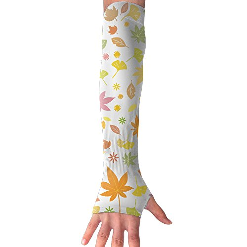 Disaeq Flower Background Summer Cooling Sunscreen Glove One Pair Arm Sleeve Cover For Sports Outdoors Cycling Golf Hiking Running Fishing Biking Climbing