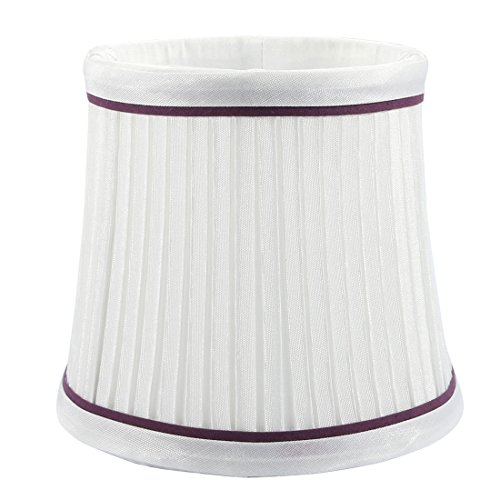 uxcell 10cm-13cm Dia 11cm Height Cloth Lamp Cover Shade Lampshade White