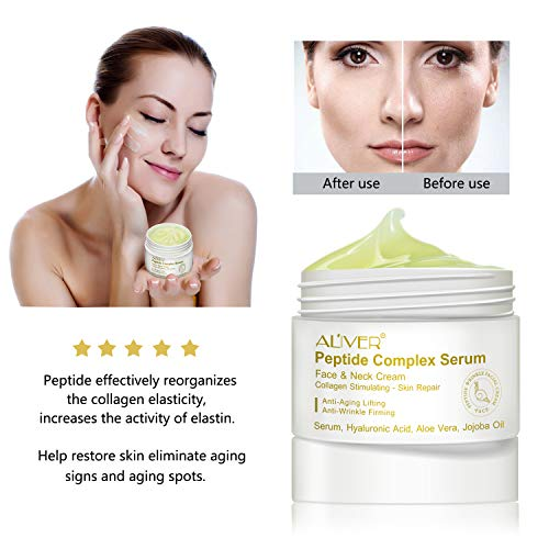 41hdeb2vwWL - Peptide Wrinkle Cream,Anti-Wrinkle Cream,Anti aging serum,Collagen Peptides For Skin and Neck Moisturizer Cream Firming,Fights the Appearance of Wrinkles, Fine Lines,Best Day and Night