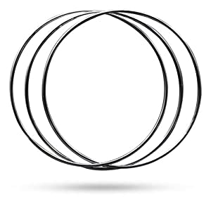 Magic Makers Linking Rings Medium 8 Inch Set of 8 Rings with DVD