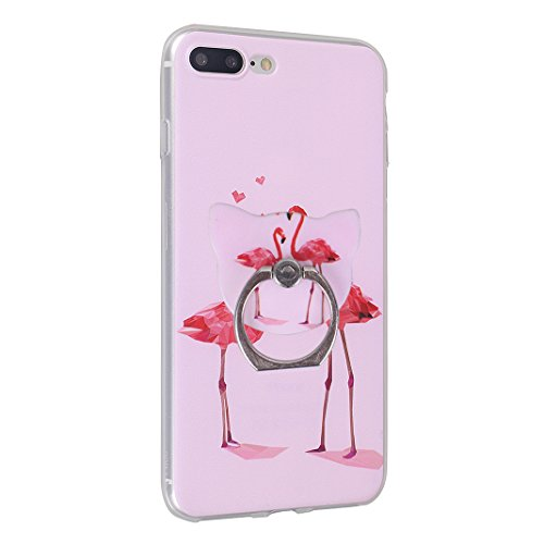 Fundas iPhone 7 Plus, Funda Silicona iPhone 8 Plus, Moon mood® Cubierta Suave Funda Case de Silicona TPU para Apple iPhone 7 Plus/8 Plus 5.5 pulgada Slim Caso Trasero Resistente a las Rayaduras Pintur Bird