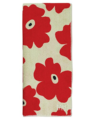 MUkitchen Microfiber Dishtowel, 16 by 24-Inches, Red ()