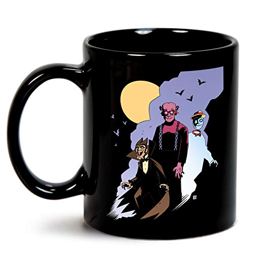 Mike Mignola style Count Chocula, Franken Berry, and Boo-Berry Mug]()