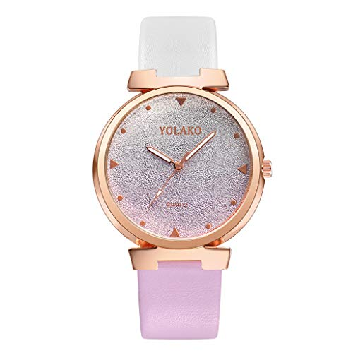 - SMALLE ◕‿◕ 2019 Women's Watch,Casual Color Stitching Quartz Leather Band Watch Analog Wrist Watch