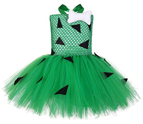 Tutu Dreams Pebbles Costume for Baby Girls Birthday Outfit Photo Props Holiday Pageant (Pebbles, Small(1-2 Years))