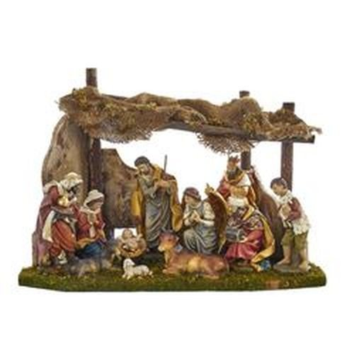 Kurt Adler Nativity Set with 11 Figures and Stable by Kurt Adler