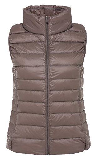 Down Womens Available Vest Santimon 10 Collar Stand Colours Lightweight Warm Down Packable Coat Khaki Jacket zOdAFqd