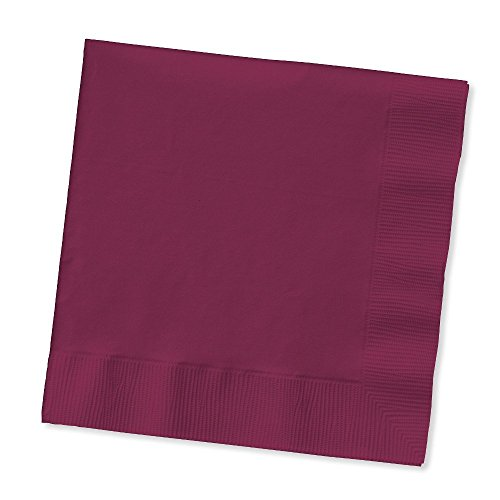 Creative Converting Touch of Color 100 Count 2-Ply Paper Dinner Napkins, Burgundy (3 pack) -