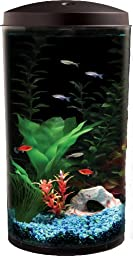 API Aquaview 360 Aquarium Kit with LED Lighting and Internal Power Filter, 6-Gallon