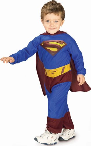 Superman Jumpsuit Toddler Costume (Toddler) (Superman Costume For Sale)