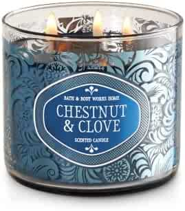 Bath and Body Works White Barn Chestnut Clove  3 Wick Candle 14.5 Ounce