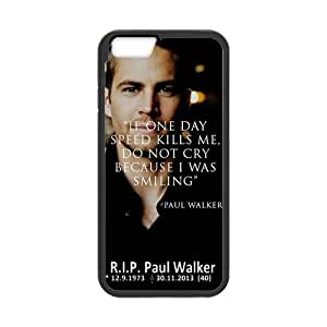 Cell phone iPhone 6 Case,with Paul Walker The Fast and The Furious7 Style Colorful Pattern Hard Flexible Plastic and TPU Back Case Cover Fit for iphone6 4.7Inch