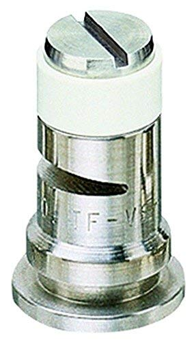 TeeJet TF-VS4 Turbo Floodjet Spray Tip, 0.40-0.80 GPM, 10-40 psi, Stainless Steel - White ()