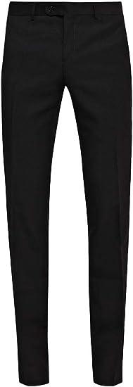 STENSER B10RA Mens Business Suit Trousers Flat Front Black