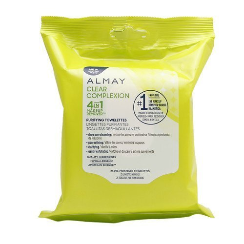 Almay Clear Complexion 4-in-1 Makeup Remover 25 count each (2-Pack)