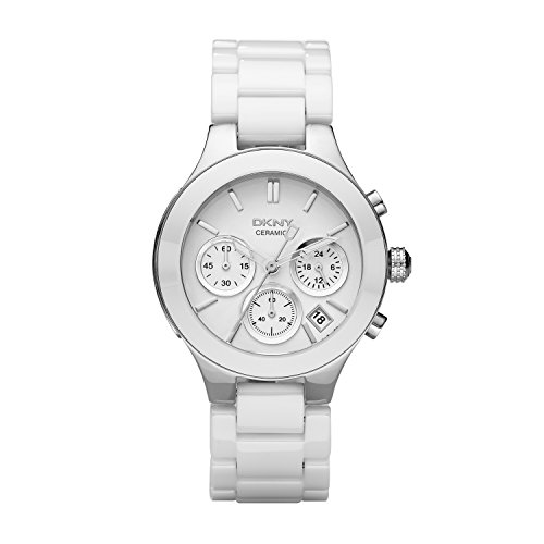 DKNY Women's NY4912 CHAMBERS White Stainless Steel Watch