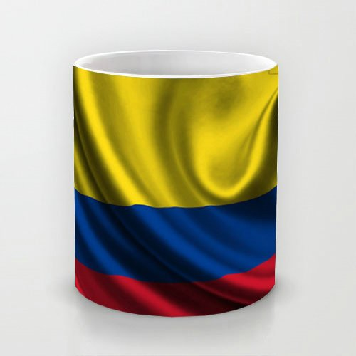 Columbia Satin Flag Line Fabric Popular Pattern Cute Mugs (Sst Satin)