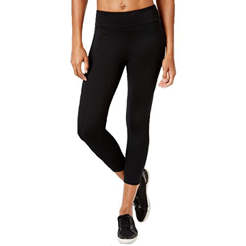 Calvin Klein Performance Women's Compression Panel Wide Waistband Ankle Legging, Black, X-Small