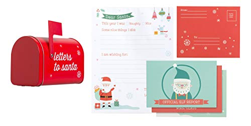 Kate & Milo Letters to Santa Holiday Kit, DIY Set Includes Everything Your Child Needs to Write a Letter to Santa This Christmas Season, a Fun Creative Holiday Craft and Unique Gift