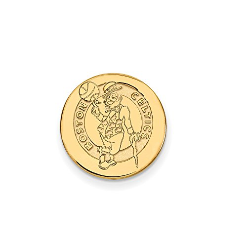 NBA Boston Celtics Lapel Pin in 14K Yellow Gold by LogoArt