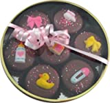 Chocolate Dipped Oreo Cookies Girl Baby Theme / Shower 7 Oreos