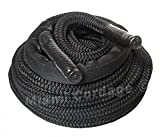 Miami Cordage Nylon Double Braided Fitness Rope (Black, 2″ X 30′) For Sale