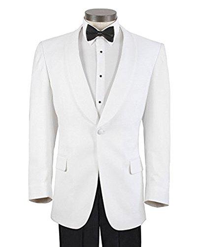 Men's White Formal Dinner Jacket - 46 Regular
