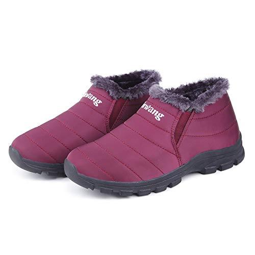 in dimensioni impermeabili Rosso di da EU scarpe Dimensione fodera invernali Colore sulle Blu Stivali donna grandi 40 con lavoro da ZHRUI pelliccia 1qZ5Pw8O