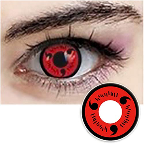 Men Women Multi-Color Colored Cute Charm and Attractive Cosplay Contact Lenses Cosmetic Makeup Eye Shadow (Type 3) -