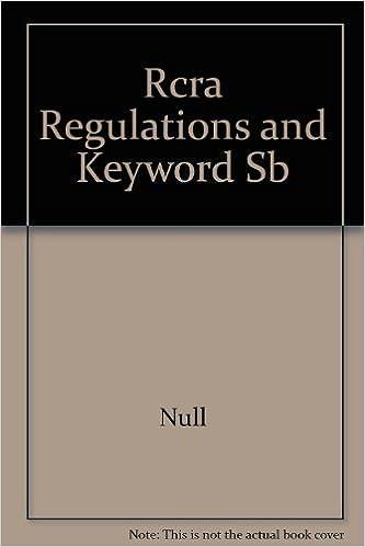 Rcra Regulations and Keyword Sb: Amazon.es: Null: Libros en idiomas extranjeros