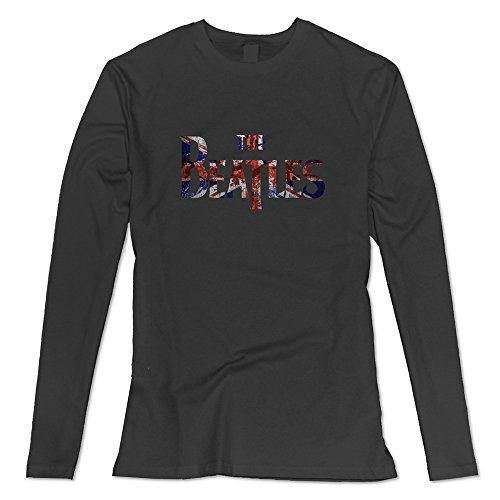 Seico Women's The Beatles Rock Band Shirt Black Size L