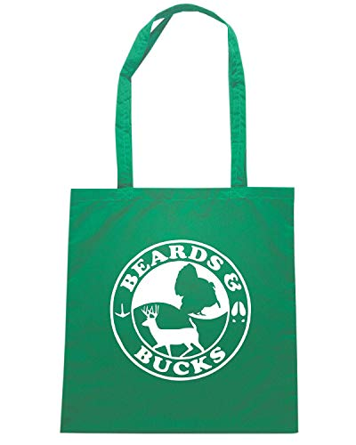 Verde Speed BUCKS Borsa FUN0725 Shopper CAR AND HUNTING BEARDS 32758 Shirt aPqxqwtF