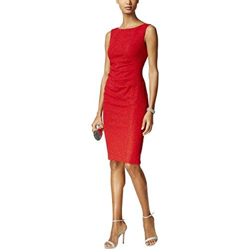 - Jessica Howard Sleeveless Ruched Womens Sheath Dress Red 16