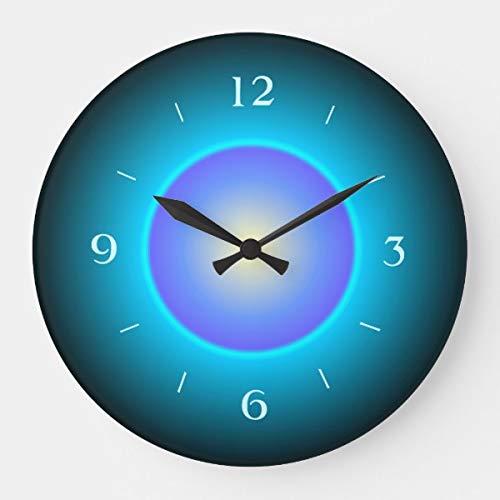 PotteLove Design Green/Aqua/Purple>Wooden Decorative Round Wall Clock ()